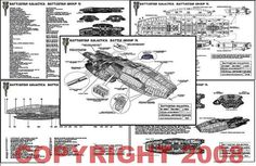 19-pg Set of New Battlestar Galactica blueprints.  Limited edition and very detailed.