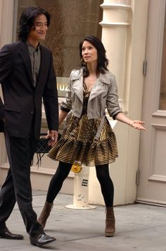 Lainey Gossip Entertainment Update|Lucy Liu and Jack Yang on the set of Cashmere Mafia
