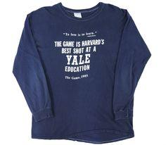 80's IMP PRINT SPORTSWEAR ''YALE EDUCATION'' ロングスリーブTシャツ 表記(XL)