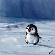 Little penguin walking by Okan Bülbül on ArtStation - Penguin Drawing, Penguin Art, Penguin Love, Cute Penguins, Cute Baby Penguin, Penguin Pictures, Animal Pictures, Cute Pictures, Cute Baby Animals