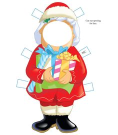 Santa 4 from Dover Publications Christmas Paper Crafts, Holiday Crafts, Cookie Sheet Activities, Christmas Printables, Christmas Worksheets, Activity Sheets For Kids, Dover Publications, Paper Artwork, Vintage Paper Dolls