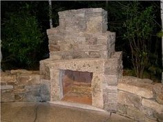Outdoor Fireplace Weathered Granite, I've always liked the idea of an outdoor fireplace.  There are a lot of other inspirational ideas at this site.