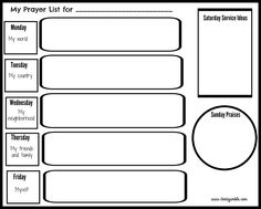 Free prayer journal pages designed for children and teens!