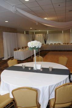 Centerpiece #wedding #white Decorations by Liisa's Rentals