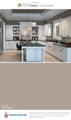 I found this color with ColorSnap® Visualizer for iPhone by Sherwin-Williams: Fleur de Sel (SW Interior Paint Colors, Paint Colors For Home, House Colors, Aqua Paint Colors, Silver Strand Paint, City Loft Sherwin Williams, North Star Sherwin Williams, Sherwin Williams Rain, Sherwin Williams Silver Strand