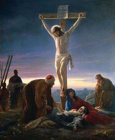 "coriesu: "" Christ on the Cross Carl Heinrich Bloch –c. 1870 """