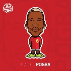 Paul Pogba #paul #pogba #football #soccer #cartoon #comic #france #manchester #united #draw #vector #tommillerdesign #tommillerart