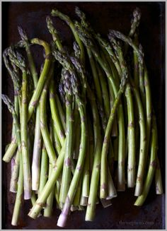 Fresh Summer Asparagus ready to be roasted for creamy soup