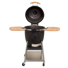 Behold the latest in BBQ technology... THE EGG by Kamado. Sure it looks like a spaceship, but this is the best portable grill on the market today.