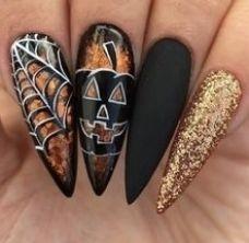Holloween Nails, Cute Halloween Nails, Halloween Tattoo, Looks Halloween, Halloween Nail Designs, Halloween Costumes, Creepy Halloween, Halloween Party, Halloween Makeup