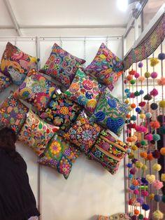 new Ideas embroidery pillow boho Bohemian House, Boho Room, Bohemian Design, Bohemian Decor, Boho Chic, Mexican Home Decor, Indian Home Decor, Diy Wall Decor, Bedroom Decor