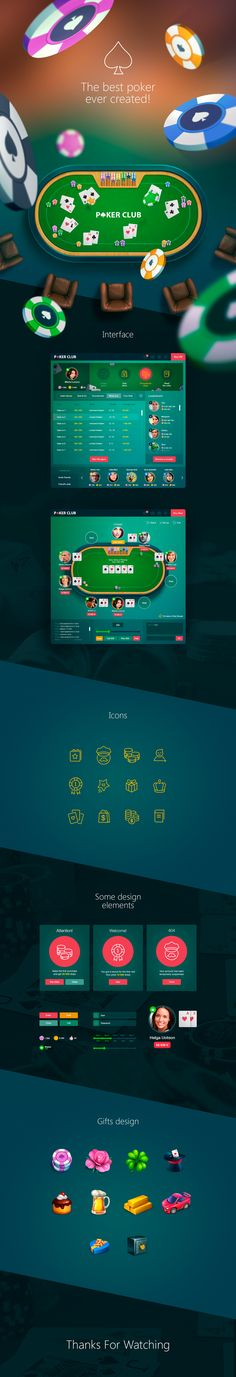 Poker game - app for social network on Behance
