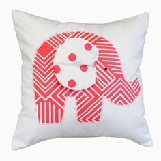 Touch Of Gray, White Nursery, Cute Elephant, Baby Feeding, Pillow Design, Pillow Shams, Decorative Pillows, Coral, Colours