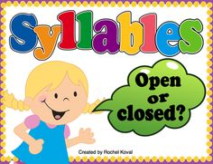 Syllables- Learning how to recognize the various syllable types trains the brain to break words into chunks. This product focuses on closed and open syllables. Students select a word card, read the word, and then decide if the word is a closed or open syllable. Real and nonsense word cards are included, as well as blank cards for you to adapt to the needs of your class. This is a perfect activity for small group work, partner work, or centers! Create two stores out of pasta boxes. The…