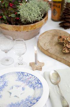 Decorada, la mesa de Navidad | tránsito inicial