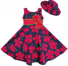 Cheap dress casual clothing, Buy Quality dress xs directly from China dress japanese Suppliers: Sunny Fashion 2 Pecs Girls Dress Sunhat Bow Tie Flower Summer Beach Kids Clothing Cotton 2016 Summer Princess Wedding Size Ankara Styles For Kids, African Dresses For Kids, African Fashion Dresses, Little Girl Dresses, Girls Dresses, Ankara Fashion, Summer Dress Outfits, Kids Outfits, Frack