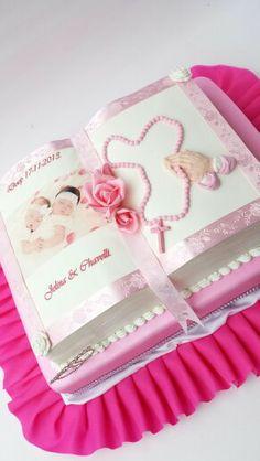 Pink Bible cake