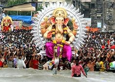 Ganesh Chaturthi is one of the most popular and widely celebrated festivals of India. The festival celebrates the birth of the popular Hindu God Ganesh. Upcoming Festivals, Festivals Of India, Indian Festivals, Hindu Deities, Hinduism, Happy Ganesh Chaturthi Images, Lord Ganesha, Sri Ganesh, World Religions
