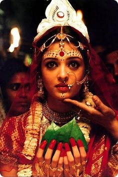 Aishwarya Rai as a Bengali Bride