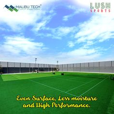 Without disrupting your game, Lush sports allows you to exercise a robust play even when the moisture is high. Even surface and fewer chances of slipping during all seasons makes Lush sports a desirable surface to play your plays!