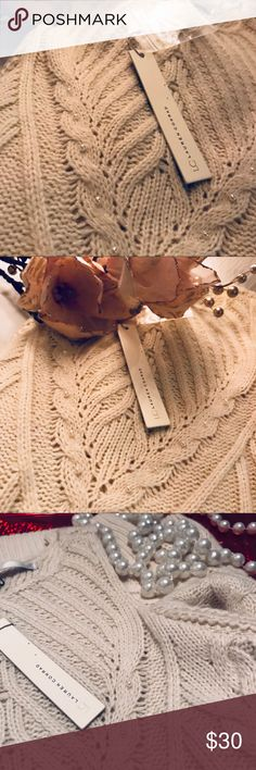 Lauren Conrad Cold Shoulder Pearl Sweater Lauren Conrad Cold Shoulder Pearl Sweater   -pearl beading- LC Lauren Conrad Sweaters