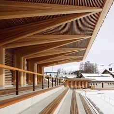 Timber Architecture, Timber Buildings, Pavilion Architecture, Architecture Details, Bamboo Structure, Timber Structure, Timber Roof, Roof Beam, Facade Design
