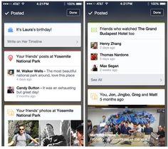 Facebook prueba tarjetas de contexto en su app para iOS