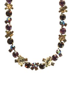 Glittering Multi-Cut Crystal Necklace in Tapestry by Sorrelli - $160.00 (http://www.sorrelli.com/products/NCF6AGTAP)