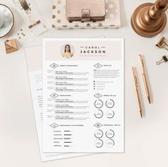 "Resume CV Design + Cover Letter Template for Word | Instant Digital Download | The ""Galerista"""