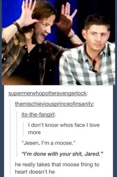Not sure who's face is better, Jared or Jensen
