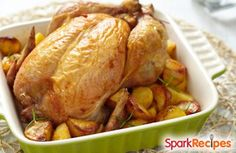 Roasted Chicken with Herb Oil is a simple and versatile protein. Use it in soups, throw it on pasta or pair it with a simple salad.
