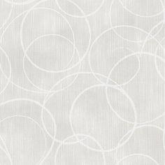 2662-001943 Light Grey Circle Geometric - Ripple - Precision Wallpaper by Beacon House
