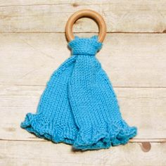 Teether Knit Lovey | Teething babies will definitely appreciate this knit lovey!