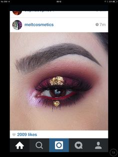 Melt cosmetics gold and Marsala