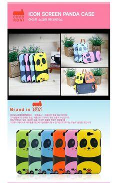 Icon screen panda cover case. Cute screen panda printed on the back.