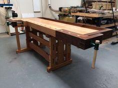 Greene & Greene Inspired Workbench - Reader's Gallery - Fine Woodworking #woodworkingbench