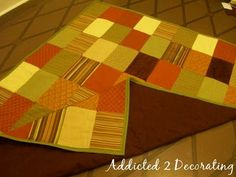 Really great tutorial on Patchwork Quilted Throw. Super easy to understand too!