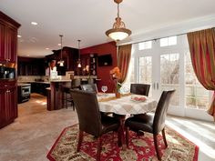 Beautiful kitchen eating area/kitchen in a home we staged in Bayport NY. Photo by Jump Visual