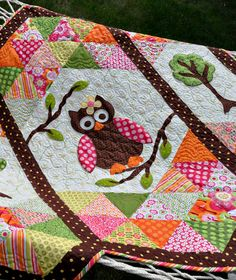 Adorable quilt from Heather Mulder Peterson of Anka's Treasures. I LOVE every quilt on this blog!!!