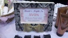 Avon Party frame idea to display on table.