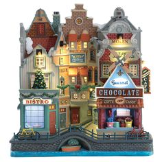 Lemax Seaside Christmas. SKU# 75196.  Released in 2017 as a Facade for Lemax General Products.   Lights illuminate the unit.
