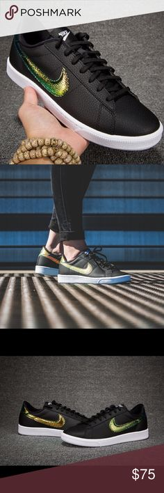 NIKE WMS TENNIS CLASSIC PREMIUM SIZE 8 BLACK GOLD Brand new without box Nike Shoes Sneakers