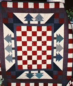 Q-Checkerboard Pines by Linda Rotz Miller Quilts & Quilt Tops, via Flickr