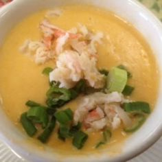 A lobster bisque recipe that beats all. Generous bits of lobster float in this rich, buttery soup to continue to tantalize your taste buds. Red Lobster Lobster Bisque, Lobster Bisque Recipe, Seafood Bisque, Soup Recipes, Seafood Recipes, Easy Recipes, Main Dishes, Lunch, Stuffed Peppers