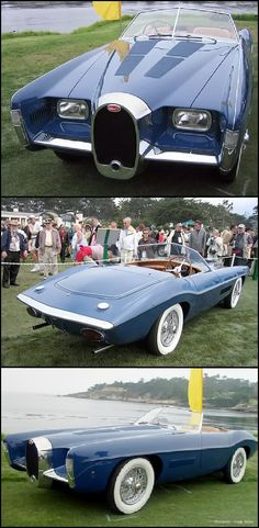 1966 Exner Bugatti Roadster by Ghia, powered by a supercharged 3,257-cc Type 101C 200 horsepower engine