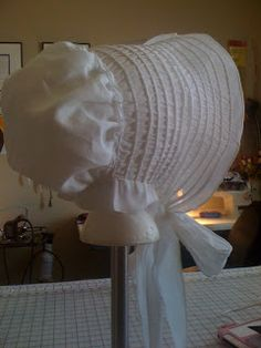Regency Drawn Bonnet, Pattern and tutorial, from TwilaTee, On a Mission to Costume the World: Tutorial