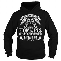 Awesome Tee TOMKINS Blood - TOMKINS Last Name, Surname T-Shirt T shirts