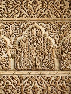 Palacio De Los Leones Sculpture, Nasrid Palaces, Alhambra, UNESCO World Heritage Site, Granada, And Lámina fotográfica. http://www.costatropicalevents.com/en/costa-tropical-events/andalusia/cities/granada.html