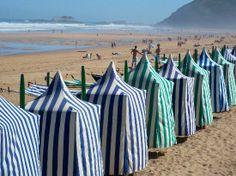 Zarautz, Gipuzkoa, País Vasco, Spain. The beach...