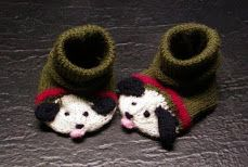 Bow Wow Baby Booties - pattern $4.00
